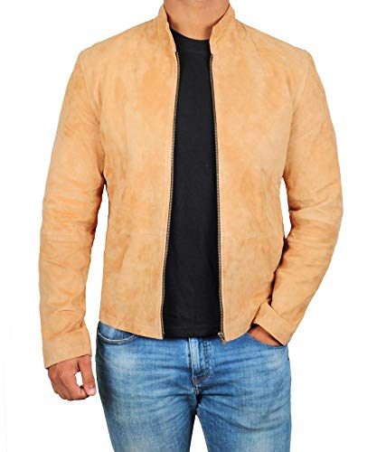 Decrum Brown Suede Leather Jacket - Swedish B2 Bomber Jacket | [1100351] Morroc, XS