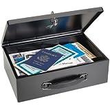 STEELMASTER Fire-Retardant Black Steel Security Box with Key Lock (2216140BP04)