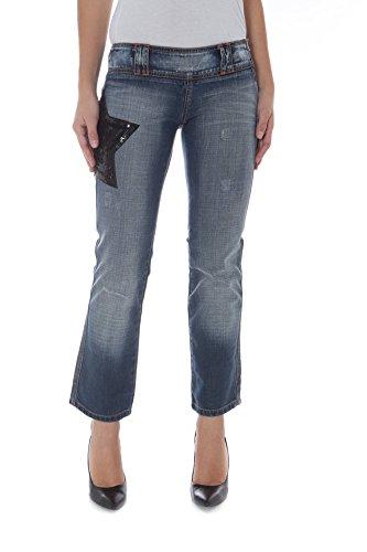Phard P17022404123LL Quinn Jeans Capri Mujer Azul 1750