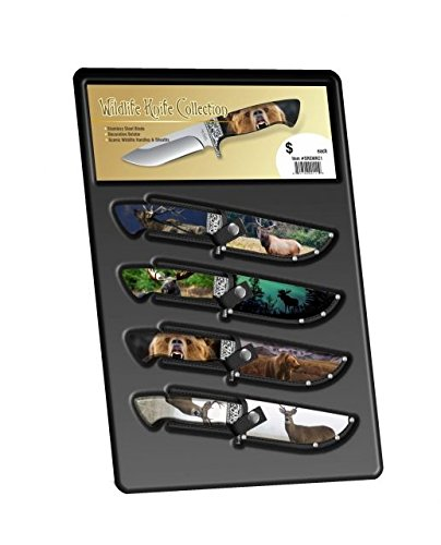Stone River Gear Wildlife Themed Hunting Knife Collection, Multi Color, SRGWKC1 by Stone River Gear