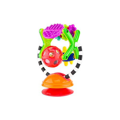 Sassy Teethe & Twirl Sensation Station 2-in-1 Suction Cup High Chair Toy | Developmental Tray Toy for Early Learning | for Ages 6 Months and - Teether Sassy