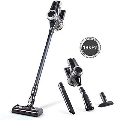 Alfawise V9 Aspiradora inalámbrica 4 en 1, Aspiedor a mano, Aspirador recargable, cepillos intercambiables, Potencia de 12000-19000 Pa limpieza rápida y fácil, multifuncional para casa y coche (Gris): Amazon.es: Hogar