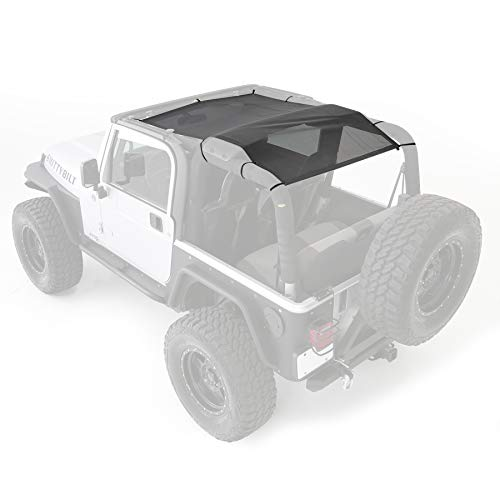 Smittybilt 95600 Cloak Extended Mesh Top (Long Brief) for 1997-2006 Jeep Wrangler TJ - Mesh Top Finish
