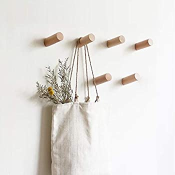 hooks for purses on wall.htm amazon com nordmiex 4pcs natural wooden coat hooks wall mounted  wooden coat hooks wall mounted