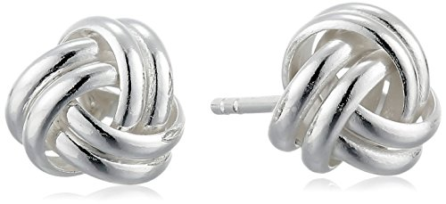 Sterling Silver Knot Earrings (Sterling Silver Thick Love Knot Post Earrings)
