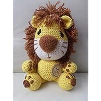 León Tejido a mano crochet