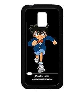 Samsung Galaxy S5 Mini Funda Case Cover Animadas Detective Conan Antigolpes Antipolvo Dura Luz Slim Resistente Anti Scratch Galaxy S5 Mini Funda para Hombre
