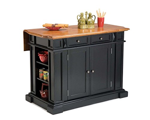 Home Styles 5003-94 Kitchen Island, Black and Distressed Oak Finish from Home Styles