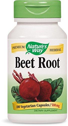 Natures Way Beet Root 500 Milligrams 100 Vegetarian Capsules. Pack of 2 bottles (100ct Natures Way)