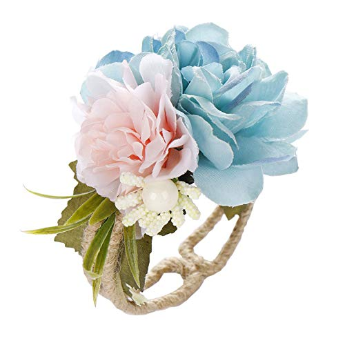- Ewer Multicolor Wedding Wrist Corsages for Bride Bridesmaid, Artificial Bridal Peony Wristband Hand Flower for Wedding Prom Party
