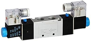 3//8 NPT 3//8 NPT 2 Position DC 4V320-10-DC12-10PK MettleAir 4V320-10-DC12 Double Solenoid Valve Pack of 10 12V 4 Way Pack of 10