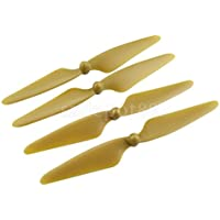 Set of 4 CW/CCW Propellers Props for MJX B3 Bugs 3 RC Drone Spare Parts Gold