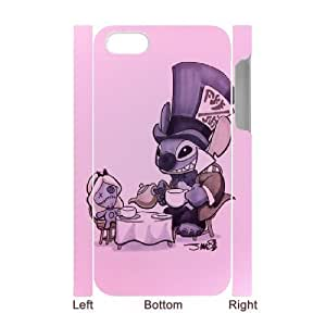 3D Sexyass Lilo and Stitch IPhone 4/4s Cases Cute Halloween Poster., [White]