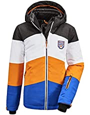 killtec Boy's Fiames Bys Ski Jckt C Functional jacket with zip-off hood and snow guard