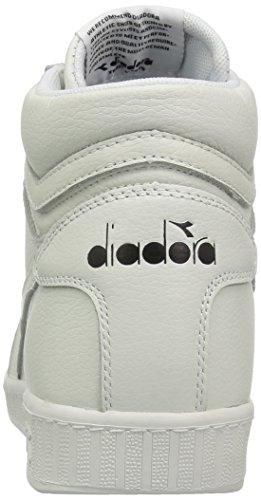 Diadora Mens Spel Hög Sneaker Vit / Vit / Svart