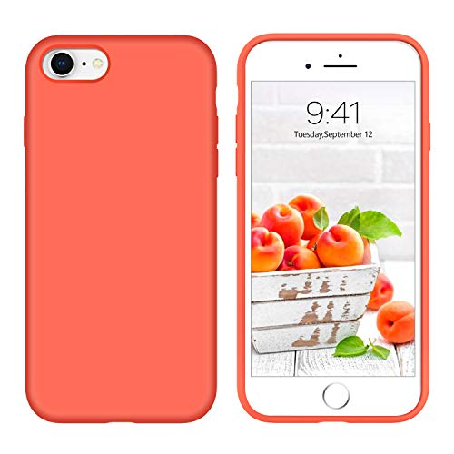 iPhone 8 Case iPhone 7 Case Liquid Silicone, GUAGUA Soft Gel Rubber Slim Lightweight Microfiber Lining Cushion Texture Cover Shockproof Protective Anti-Scratch Phone Cases for iPhone 8/7 - Rubber Gel Silicone