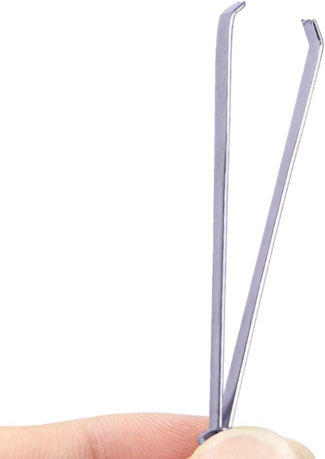 Plata HEALLILY Herramienta de Enhebrado de Aguja de Enhebrador de Aguja de Coser 2 Piezas para Herramienta de Bordado de Costura Casera