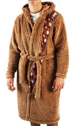Realistic Chewbacca Costume (Star Wars Chewbacca Sherpa Robe with Sound Chip Adult Size (Small Medium))