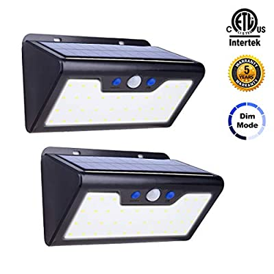 Solar Motion Sensor Light 2pack