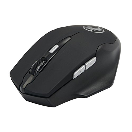 1600DPI 2.4G USB Receiver Optical 6D Gaming Wireless Mouse (Black) - 6