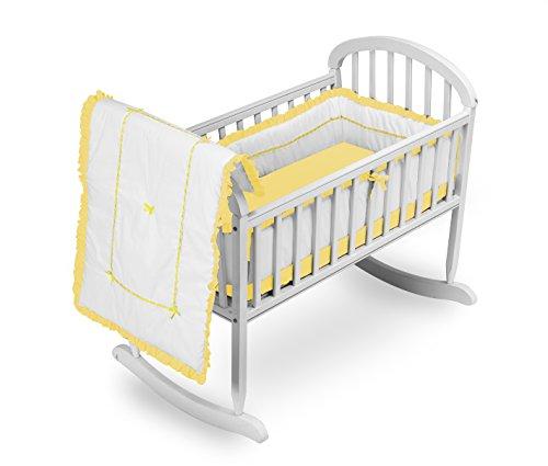Baby Doll Bedding Unique Cradle Bedding Set, Yellow