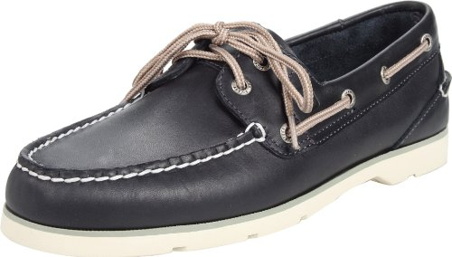 Sperry Top-sider Mens Scarpe Da Barca Sottoveste Color Navy In Pelle