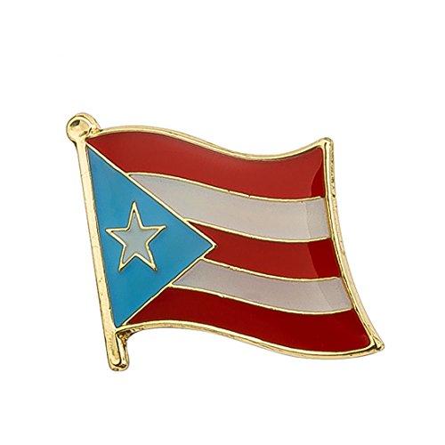 Puerto Rico Flag Lapel Pin 16mm x 19mm Hat Tie Tack Badge Pin ()
