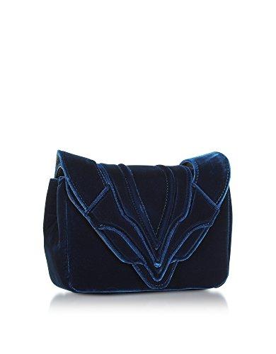GHISELLINI Bleu ELENA Pochette B0771040 Velours Femme fw6xgpd