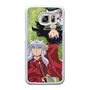Grouden R Create and Design Phone Case,InuYasha Cell Phone Case for Samsung Galaxy S6 Edge White + 1*Touch Stylus Pen (Free) GHL-2870475