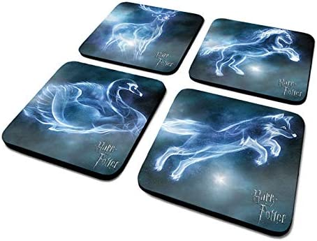 Set Of 4 Coaster //Drinks Mat BY PYRAMID CSP0021 OFFICIAL Harry Potter Patronus