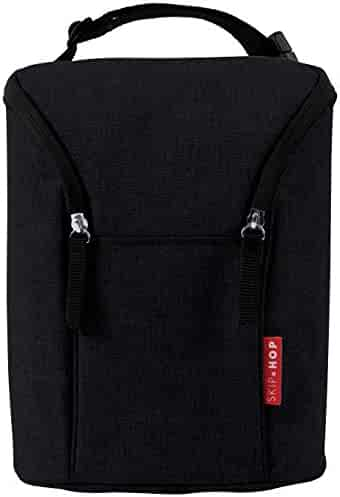 Skip Hop Grab-and-Go Insulated Double Bottle Bag, Black