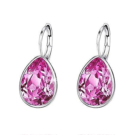 FiedFikt - Pendientes para mujer, diseño de gotas de cristal, 1 ...