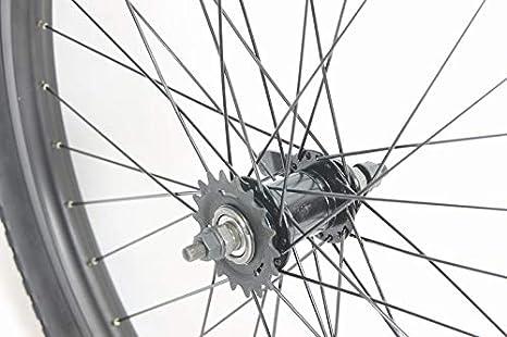 MANGO 26 inch Coaster Brake Wheel Set Beach Cruiser Bike Bicycle with 26 x 2.50 Tires and Tubes! Black