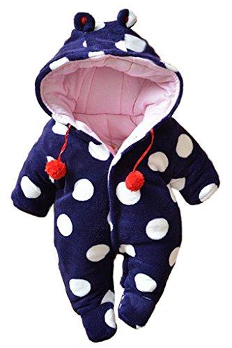 La vogue Baby warm Strampler Einteiler Schneeanzug Unisex (74-Bust74, Lila)