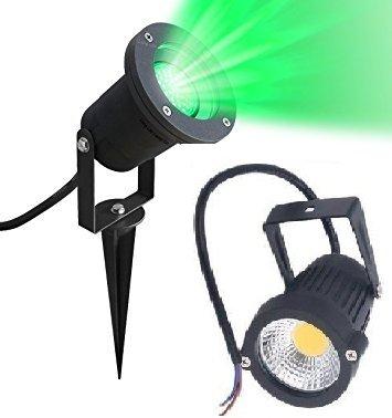 D'Mak™ LED Outdoor Garden Spot and Spike 5W IP65, Green 3000K, with 1 Year Warranty, Aluminium Body (5 Watt) | Garden Lights | | 5w Garden Light |