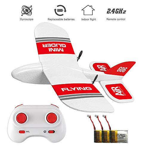 - HIOTECH KF606 2.4Ghz RC Airplane Mini Indoor Flying Aircraft EPP Foam Glider Toy Airplane Built-in Gyro RTF Remote Control Toys Kids Gifts (KF606+ 3 Battery)