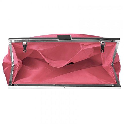 Stylé Au Femme De Ta320 Soirée Coloris Sac En Satin Pochette Corail Classique Design Caspar Pour Plusieurs PTzaqwW