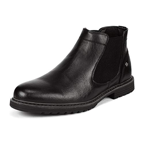 Bruno Marc Men's Philly_18 Black Dress Combat Motorcycle Chelsea Boots Size 8.5 M US