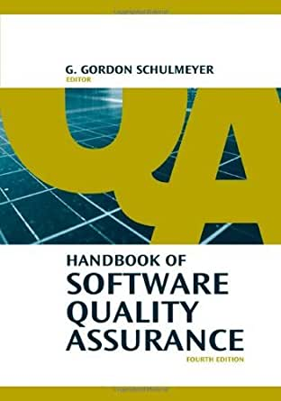 handbook of software quality assurance 4 g gordon schulmeyer ebook. Black Bedroom Furniture Sets. Home Design Ideas
