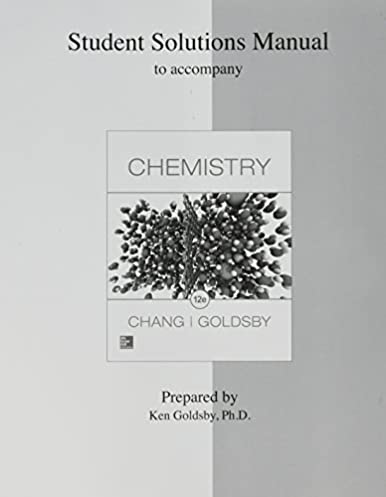 student solutions manual for chemistry raymond chang dr kenneth rh amazon com Chegg Solution Manual Student Solutions Manual Digital Designs
