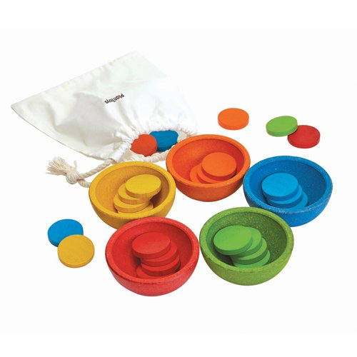(PlanToys 5360 Sort & Count Cups Baby Toy)