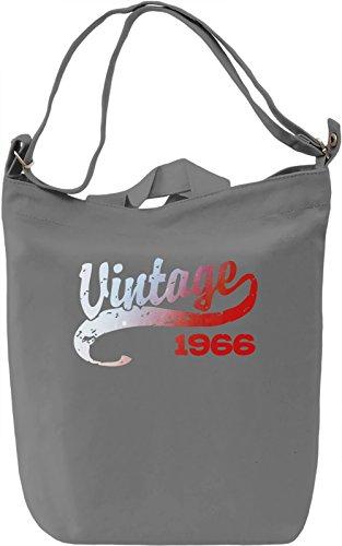 Vintage 1966 Borsa Giornaliera Canvas Canvas Day Bag| 100% Premium Cotton Canvas| DTG Printing|