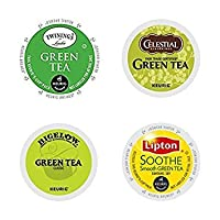 20 Count - Top Brand Green Tea Variety K-Cups for Keurig K Cup Brewers and 2.0 Brewers...