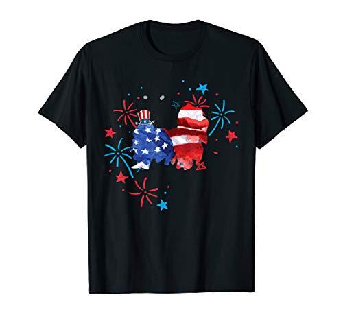 4th of July T-Shirt Men Women Funny Shih Tzu Uncle Sam Hat T-Shirt