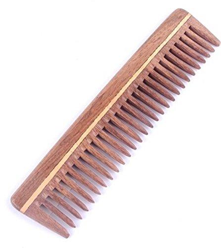 Die indischen K/ünste aus Holz Handgefertigt 7 Zoll Breiter Zahn Holzkamm