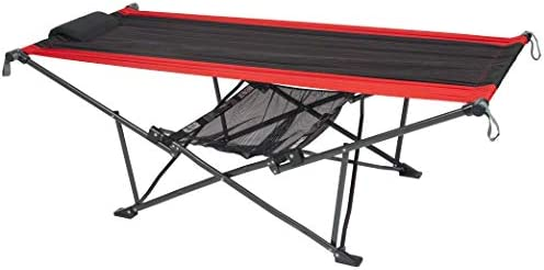 Mac Sports H900S-100 Topnotch Portable Folding Hammock, Red Black