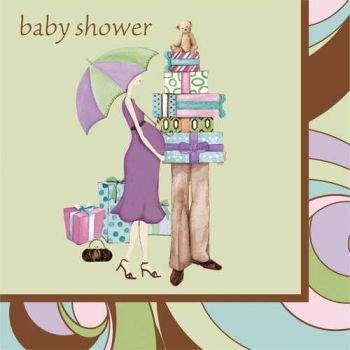 Parenthood Baby Shower 3-Ply Beverage Napkins 16 Per Pack