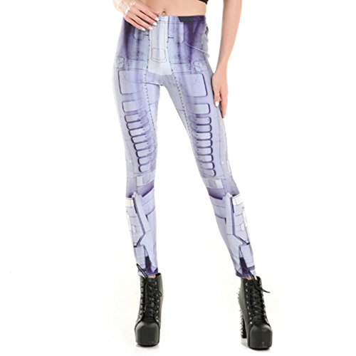MWBAY Womens Robot Leggings Sports Yoga GYM Streetnic Work Out Fitness Pants Cool Gifts