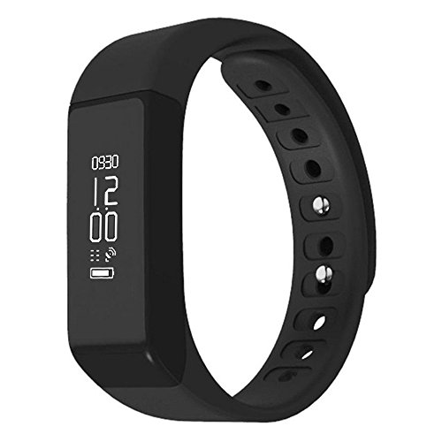Ginsy Wireless Fitness Tracker with Sleep Monitor Activity Watch Sports Pedometer Wristband for Men Kids Women (Black)