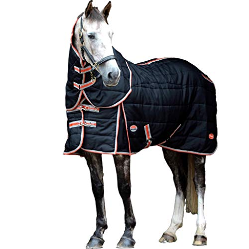 """Weatherbeeta Comfitec Stable Blanket with Therapy-Tec Channel Quilt Detach-A-Neck Medium Black/Red/Silver 69"""""""